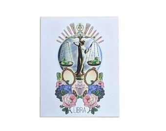 Libra Card - Astrology Birthday Card