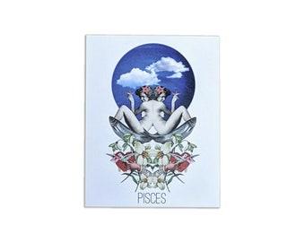 Pisces Card - Astrology Birthday Card