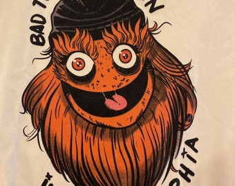 """Tshirt - """"Bad Things Happen In Philly"""" Gritty - Unisex Soft Cream Colored shirt"""