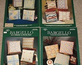4 Bargello Needlepoint Leaflets, Charted Needlepoint, Needlepoint Leaflets