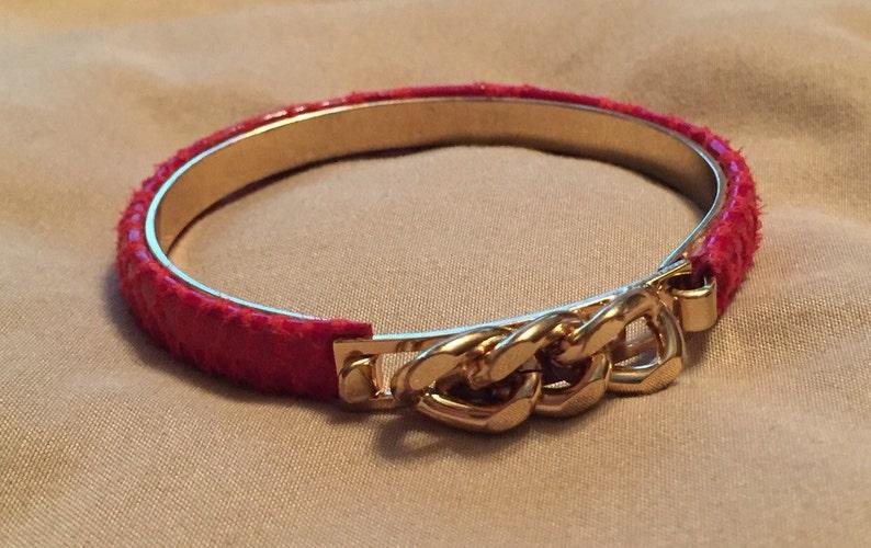 Bracciale con dettaglio catena oro come Gucci vintage serpente  e9b27a541aaa