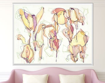 CRYSTALIS - Large ORIGINAL Abstract Painting