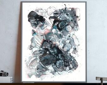 BLACK TEETH - Abstract Fine Art Print