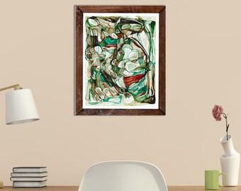 EMERALD LURAY - Medium ORIGINAL Abstract Painting