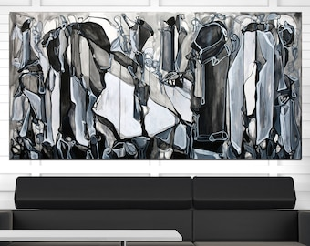 SONOROUS STONES - Large Abstract Black and White Fine Art Print