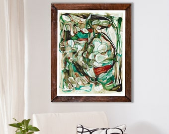 EMERALD LURAY - Abstract Fine Art Print