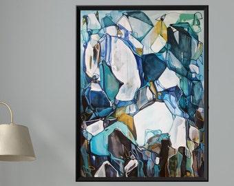 MARINE STREAMS to CAVERNS - Large Abstract Original Painting