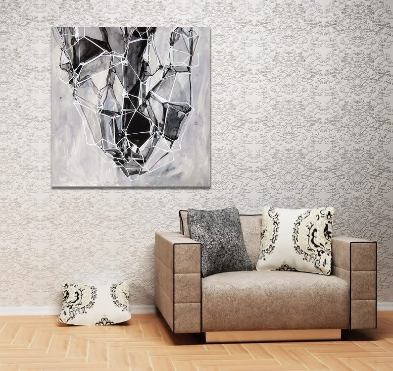 BLACK GEO WEB  Abstract Fine Art Print image 0
