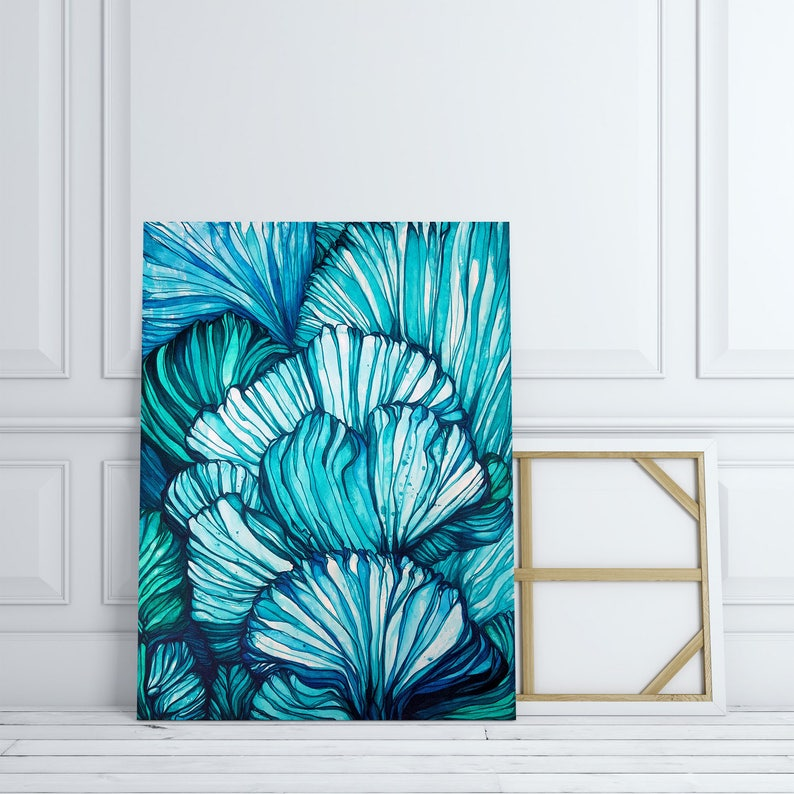 BLUE CORAL  Abstract Fine Art Print image 0