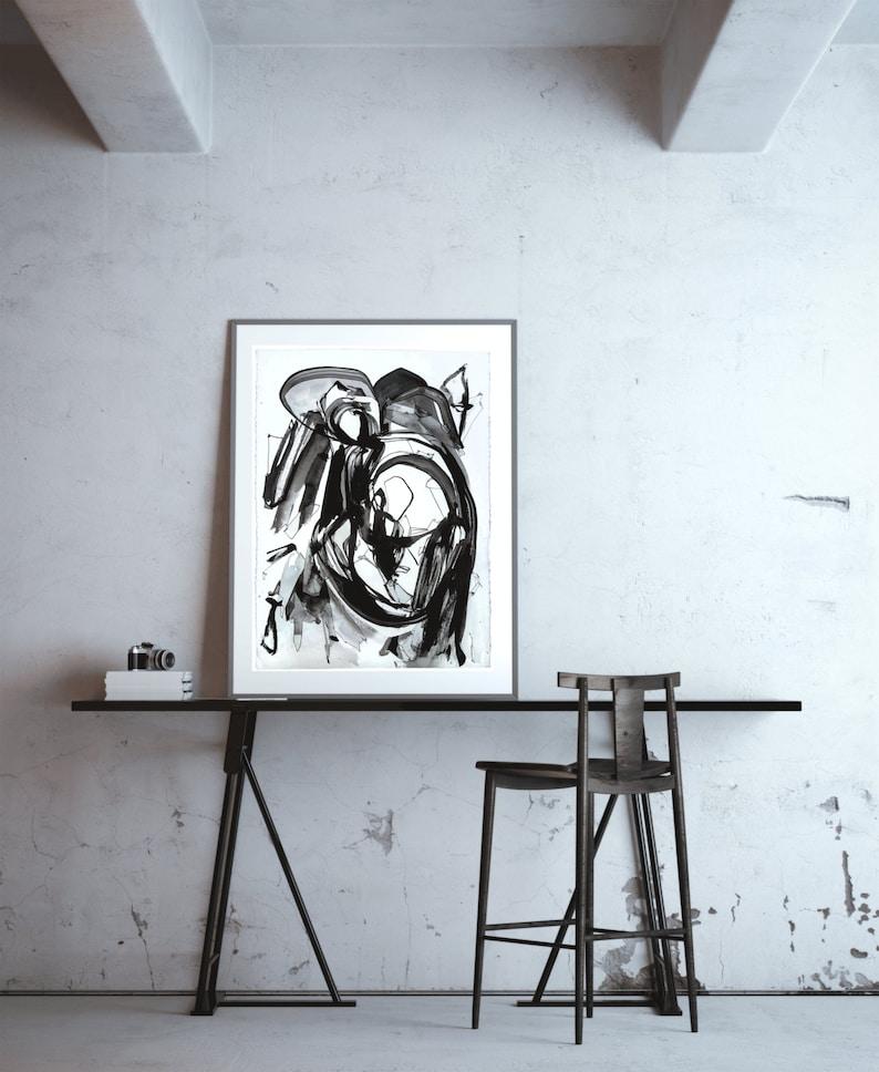 CORVUS STREAK  Large Abstract ORIGINAL Painting image 0