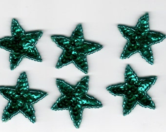 10 Sequin Beaded Applique Stars Costume Halloween Quinceañera Christmas Pageant Scrapbooking Dance Skating American Flag Craft Sewing