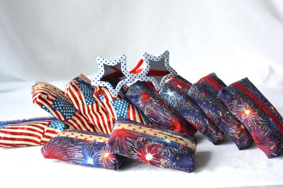 Patriotic Party Gift, 10 Party Favors, Set of 10 Kleenex Pocket Tissue Holders, Gift Basket Filler, Pool Party Gifts