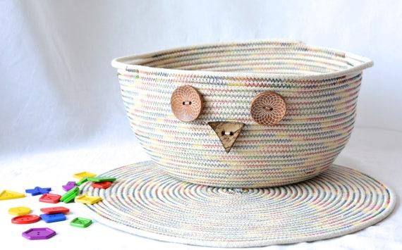 Country Owl Home Decor, Primitive Owl Basket and Matching Trivet, Handmade Rustic Farmhouse Bowl Set, Artisan Bowl Home Decor