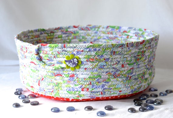 Cat Bed Furniture, SALE... Handmade Dog Toy Storage, Fun Fabric Basket, Modern Pett Bed, Dog Bed, Cute Fabric Bowl