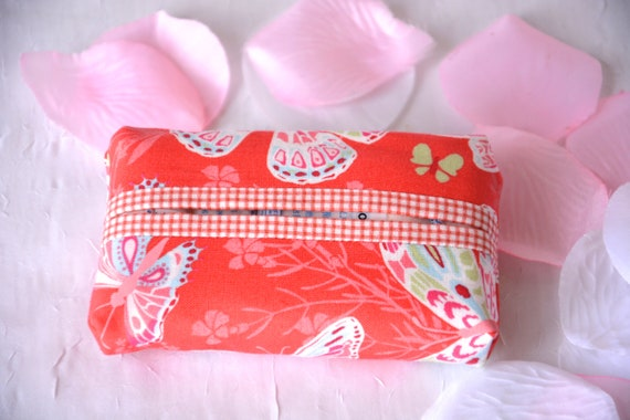 Mother's Day Gift, Easter Basket Filler, Kleenex Pocket Tissue Holder, Handmade Travel Tissue Case, Lovely Party Favor, Purse Pouch