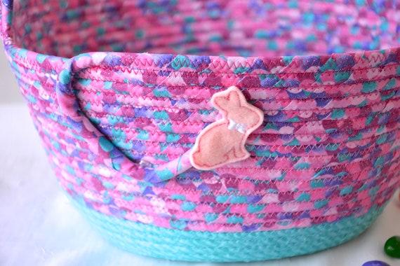 Easter Basket, Handmade Pink Easter Bucket, Girl Easter Bucket, Easter Decoration, Modern Glitter Basket, Easter Egg Hunt Bag, Free Name Tag