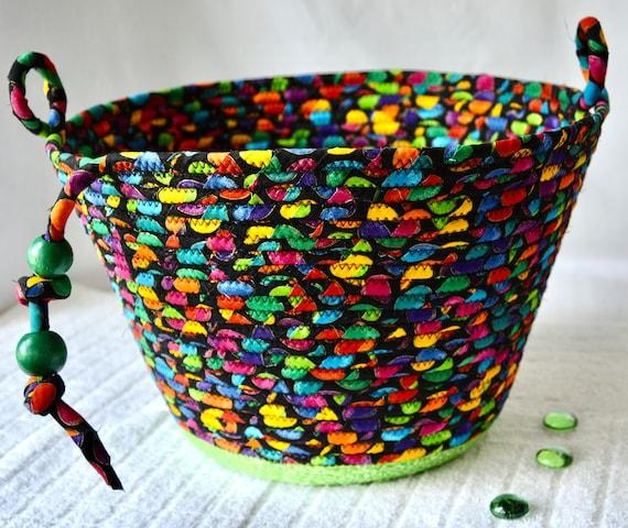 Halloween Candy Bucket, Rainbow Toy Basket, Handmade Remote Control Holder, Eyeglasses Holder, Kid Toy Bin, Child Storage Basket