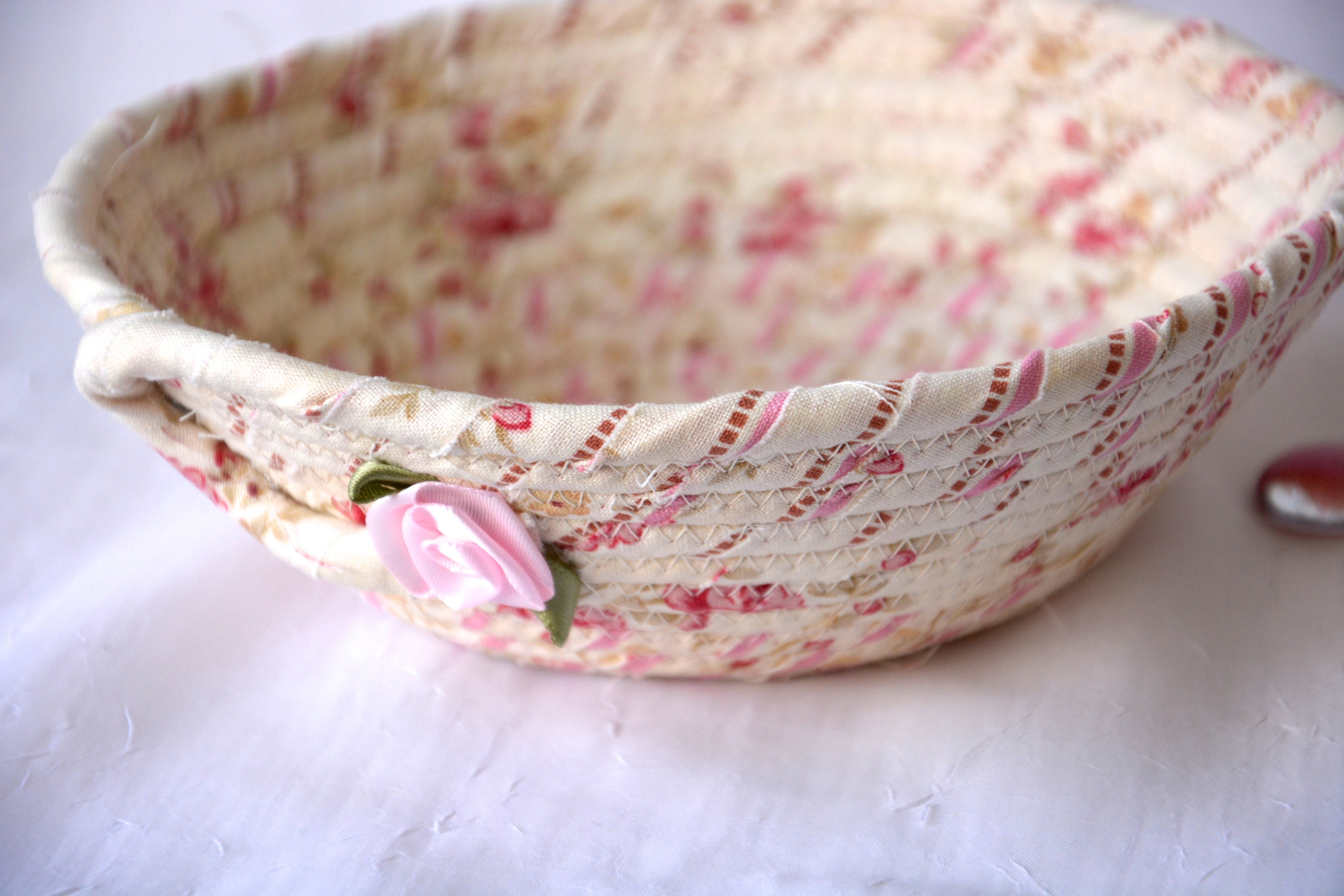 Pink Ring Dish Shabby Chic Basket Handmade Pink Potpourri Bowl Cute Desk Accessory English Garden Candy Dish Key Tray,Where To Find Houses For Rent