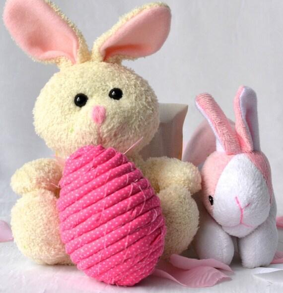 Easter Egg Bowl Filler, Pink Egg Ornament, Handmade Easter Egg Decoration, Pink Hand Coiled Fiber Easter Egg, Easter Egg Basket Filler