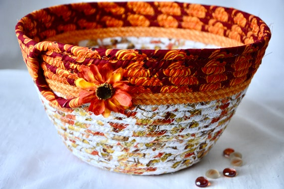 Thanksgiving Fruit Bowl, Fall Mail Basket, Country Home Decor Bowl, Festive Gift Basket, Handmade Bread Basket, Autumn Napkin Holder