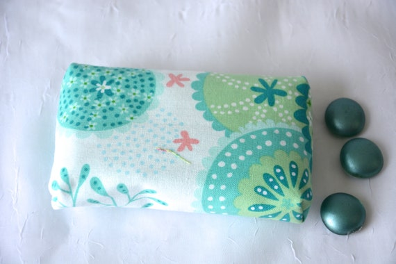 Kleenex Pocket Tissue Holder, Handmade Travel Tissue Case, Lovely Party Favor, Basket Filler, Purse Pouch, Aqua Case