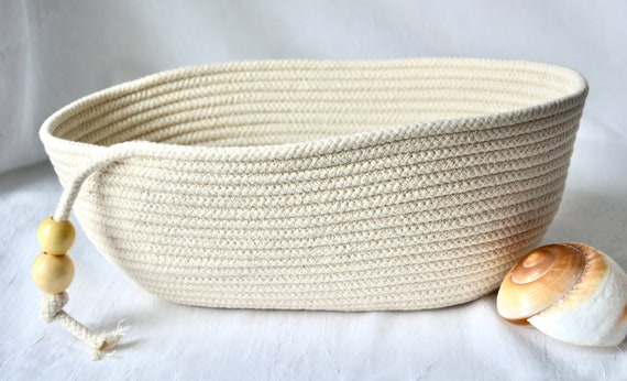 Bread Proofing Basket, Farmhouse Rope Bowl, Baker's Bowl, Handmade Country Basket, Lovely Dough Rising Bowl,  Neutrals rope basket