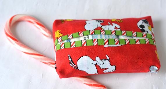 Stocking Stuffer, Cute Tissue Case, Purse Tissue Holder, Party Favor Bag Filler, Handmade Card Case, Travel Kleenex Tissue Case