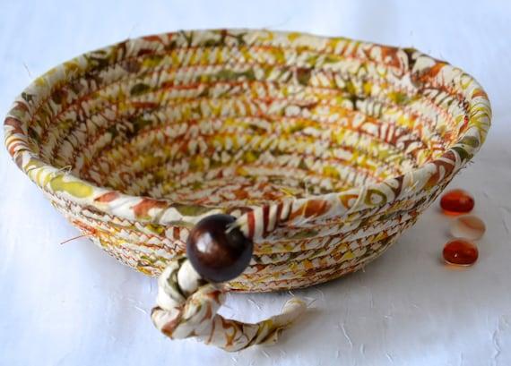 Batik Fabric Basket, Handmade Key Bowl, Wallet Holder, Coin Change Bowl, Potpourri Holder, Ring Dish, Father's Day Gift