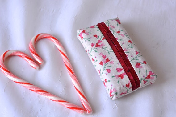 Stocking Stuffer, Kleenex Pocket Tissue Holder, Handmade Travel Tissue Case, Lovely Party Favor, Cute Purse Accessory,  Basket Filler