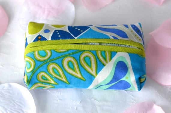 Kleenex Pocket Tissue Holder, Handmade Travel Tissue Case, Wedding Favor, Bridal Shower Gift, Office Gift, Purse Floral Tissue Case