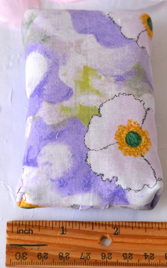 Kleenex Pocket Tissue Holder, Handmade Lavender Travel Tissue Case, Violet Party Favor, Gift Basket Filler, Cute Purse Accessory
