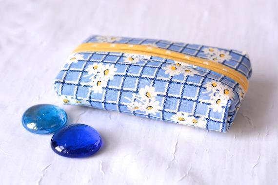 Stocking Stuffer, Kleenex Pocket Tissue Holder, Handmade BlueTravel Tissue Case, Lovely Bachelorette Party Favor, Pretty Purse Accessory