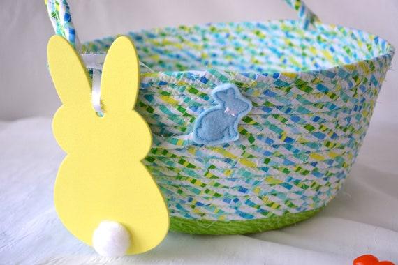 Easter Basket, Handmade Green Easter Bucket, Easter Egg Hunt Bucket, Baby First Easter Basket, Easter Decoration, Spring Decor, Name Tag