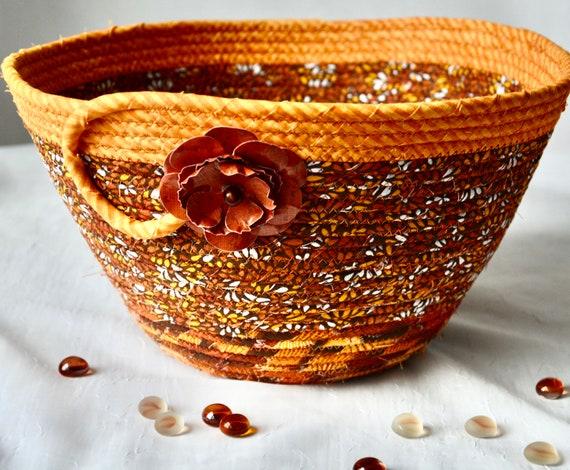 Autumn Table Basket, Fall Home Decor Bowl, Gift Basket, Handmade Bread Basket, Mail Holder, Fruit Bowl, Napkin Holder
