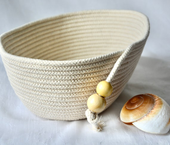 Bread Proofing Basket, Oval Rope Bowl, Baker's Bowl, Handmade Country Basket, Lovely Dough Rising Bowl,  Neutrals Farmhouse basket