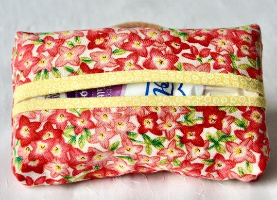 Kleenex Tissue Case, Pretty Purse Accessory, Pocket Tissue Holder, Handmade Travel Tissue Case, Lovely Party Favor, Purse Pouch