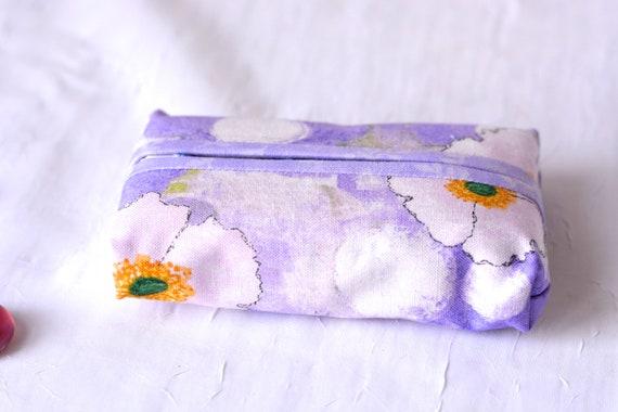 Kleenex Pocket Tissue Holder, Handmade Lavender Travel Tissue Case, Violet Party Favor, Gift Basket Filler, Cute Purse Accessory