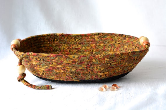 Phone Holder Bowl, Handmade Fabric Basket, Men Gift Basket, Remote Control Basket for Dad, Key Tray, Wallet Bowl, Corded Rope Basket