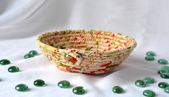 Desk Accessory Bowl, Handmade Holiday Basket, Homemade Christmas Candy Dish, Christmas Decoration, Decorative Holiday Bowl