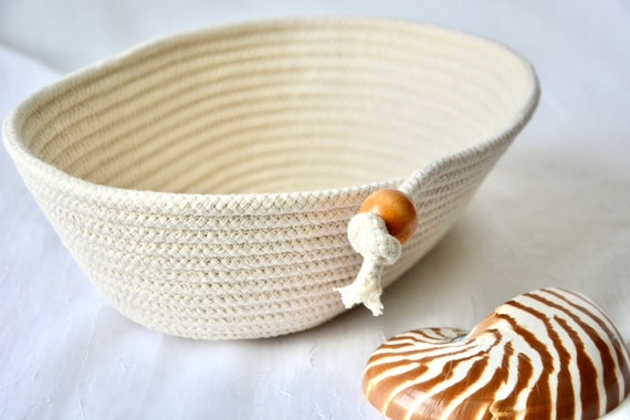 Bread Proofing Basket, Farmhouse Batard Bread Bowl, Brotform Baker Bowl, Handmade Baguette Basket, Oval Banneton Bowl,  Neutrals rope basket