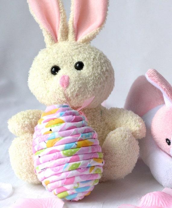 Easter Egg Ornament, Cute Bowl Filler, Handmade Easter Egg Decoration, Hand Coiled Easter Egg, Basket Filler, Fun Easter Egg Hunt