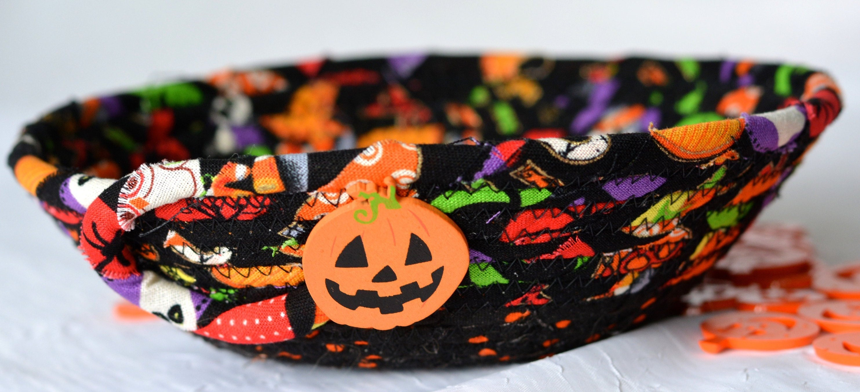 fall home decor, candy bowl, halloween basket, desk accessory basket