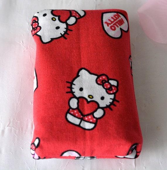 Stocking Stuffer, Girl Party Favor, Cute Basket Filler, Red Tissue Holder, Favor Bag Filler, Handmade Backpack Tissue Case, Travel Case