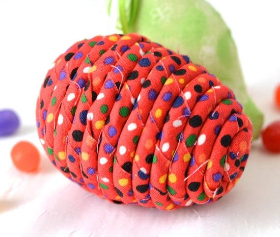 Red Easter Egg, 1 Ornament, Bowl Filler, Handmade Easter Egg Decoration, Hand Coiled Fiber Easter Egg, Easter Egg Hunt, Basket Stuffer