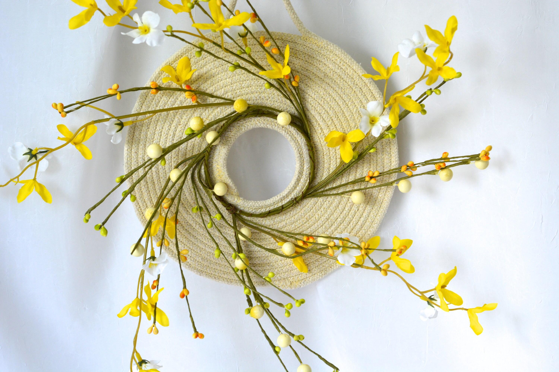 Rope Coiled Wreath, Summer Door Hanger, Lovely Wall Art, Primitive ...