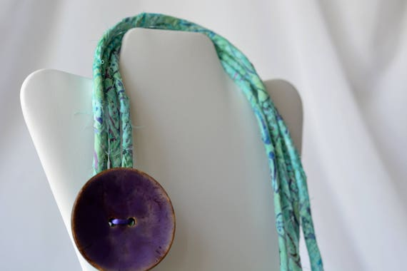 Summer Turquoise Necklace, Aqua Infinity Necklace, Handmade Wrap Fiber Jewelry, Turquoise Skinny Multi Strand Necklace