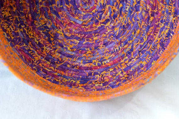 Unique Cat Bed, Artisan Quilted Basket, Handmade Apricot Batik Container, Storage Bin, Rustic Batik Cat Bed Furniture, Pet Bowl, Dog Bowl,