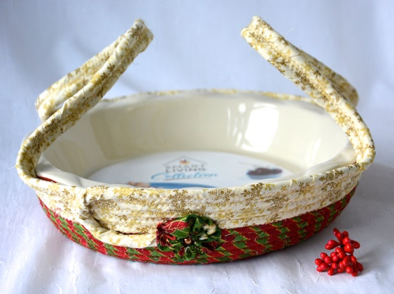 Christmas Pie Caddy Carrier, Handmade Holiday Basket, Cookie Dessert Caddy, Christmas Bread Basket, Decorative Holiday Basket, Decoration