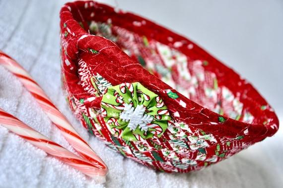 Christmas Candy Dish, Handmade Christmas Decoration, Cute Potpourri Holder Bowl, Key Basket, Holiday Decor, Ring Dish, Change Tray