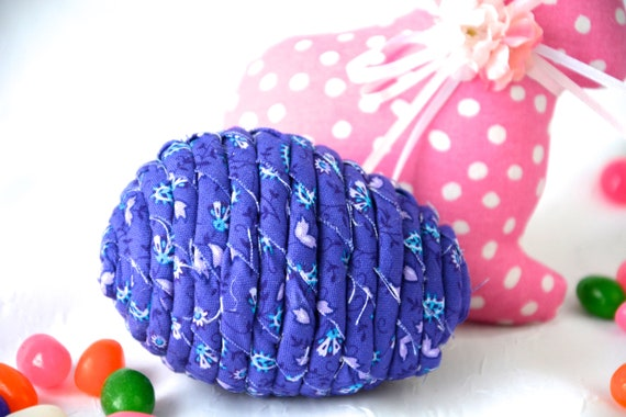 Purple Easter Egg, Handmade Easter Decor, Basket Filler Stuffer, Violet Paisley Easter Egg Ornament, Fun Easter Egg Hunt Egg, Bowl Filler